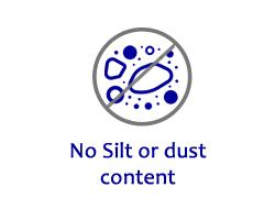M Sand Advantages - No Silt or Dust