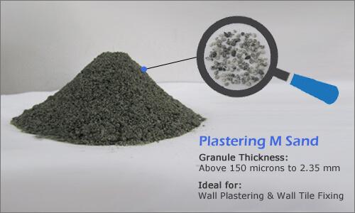 Plastering m sand